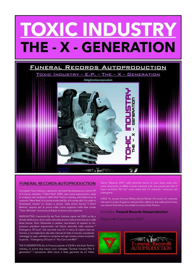 Poster Toxic Industry Digitroniks Corporation 2021