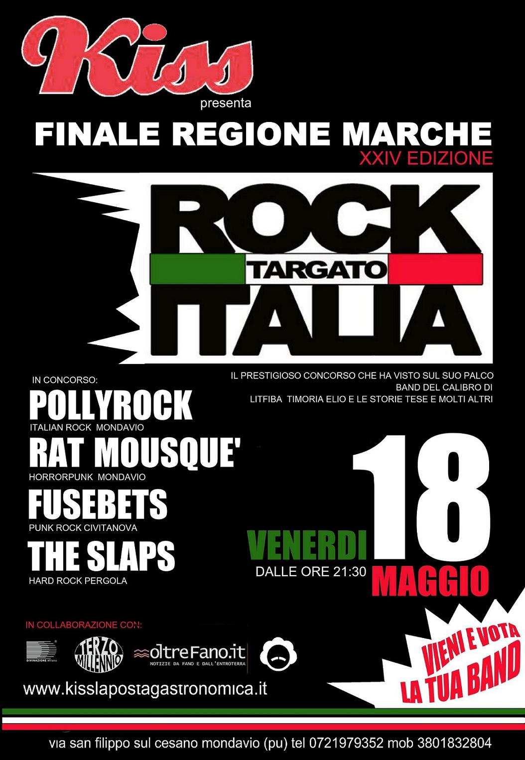 Al Kiss di Mondavio Rock Targato Italia: concorso nazionale per band emergenti
