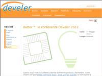 Better *: le conferenze Develer 2012