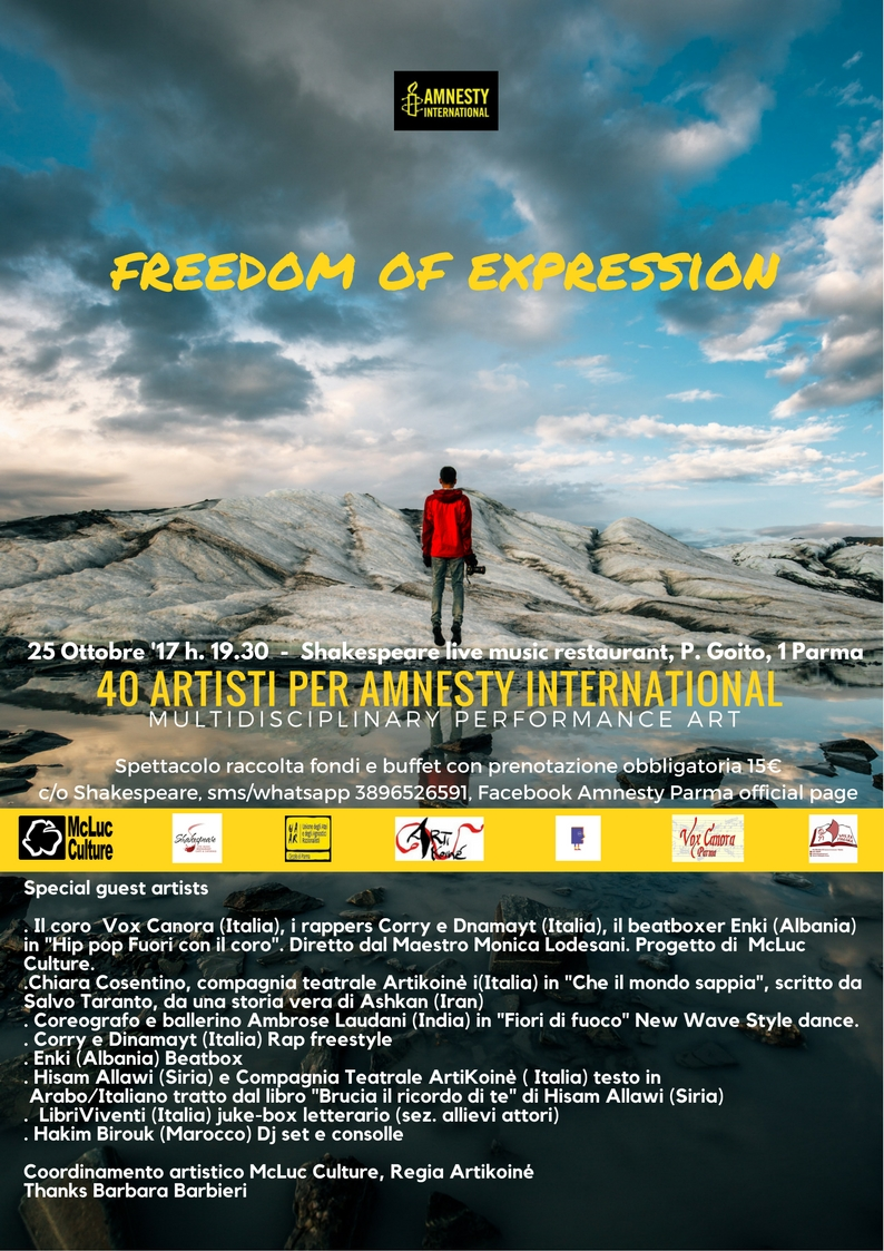 Freedom of Expression: 40 artisti per Amnesty International