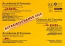 """Festival Internazionale Altrerisonanze """"dall'antico al moderno, tra il rumeno e l'universale"""""""