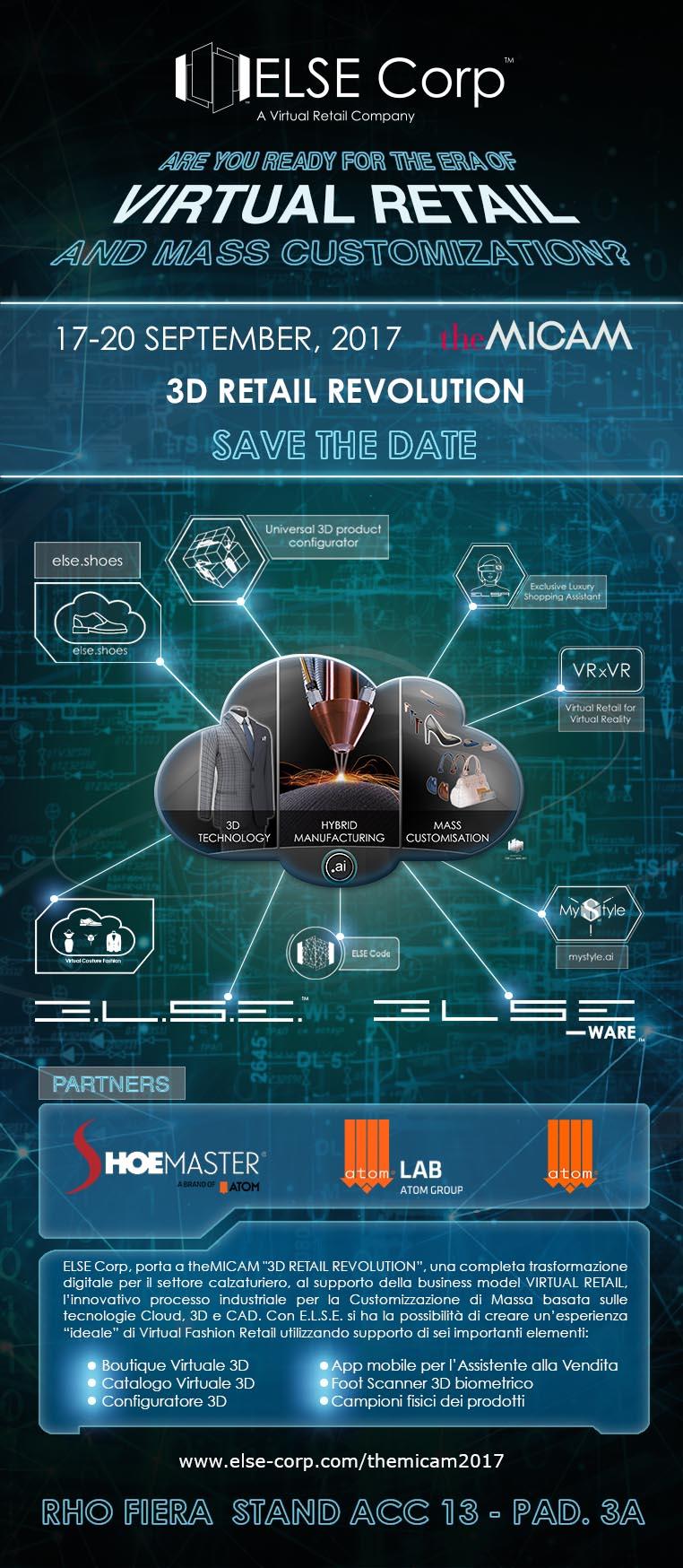"""ELSE Corp porta a theMICAM la """"3D Retail Revolution"""""""