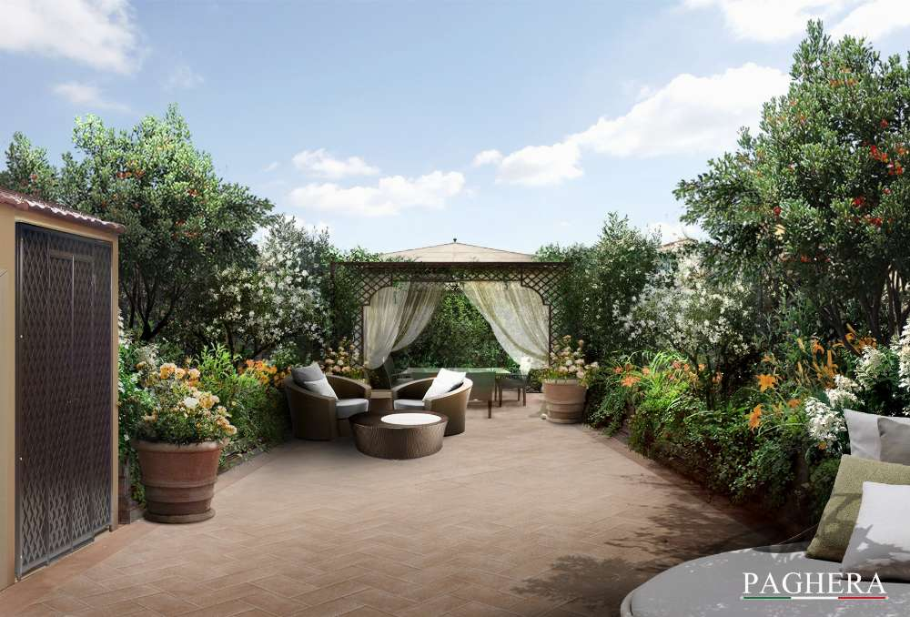 Rustica terrazza a Firenze, un nuovo progetto firmato Paghera