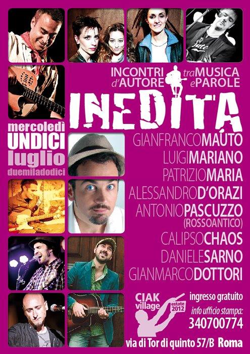 INEDITA – INCONTRI D'AUTORE TRA MUSICA E PAROLE AL CIAK VILLAGE