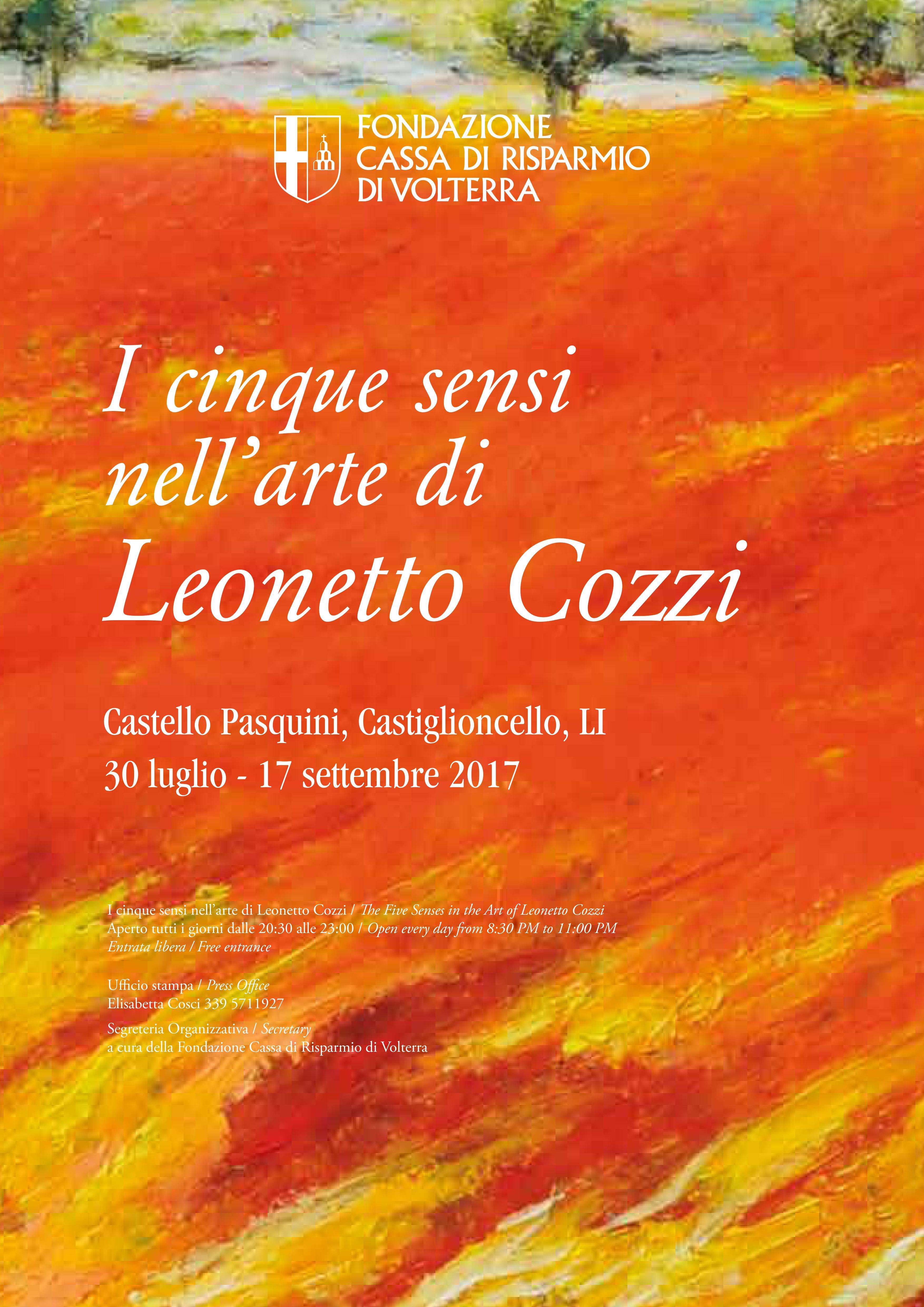 I cinque sensi nell'arte di Leonetto Cozzi