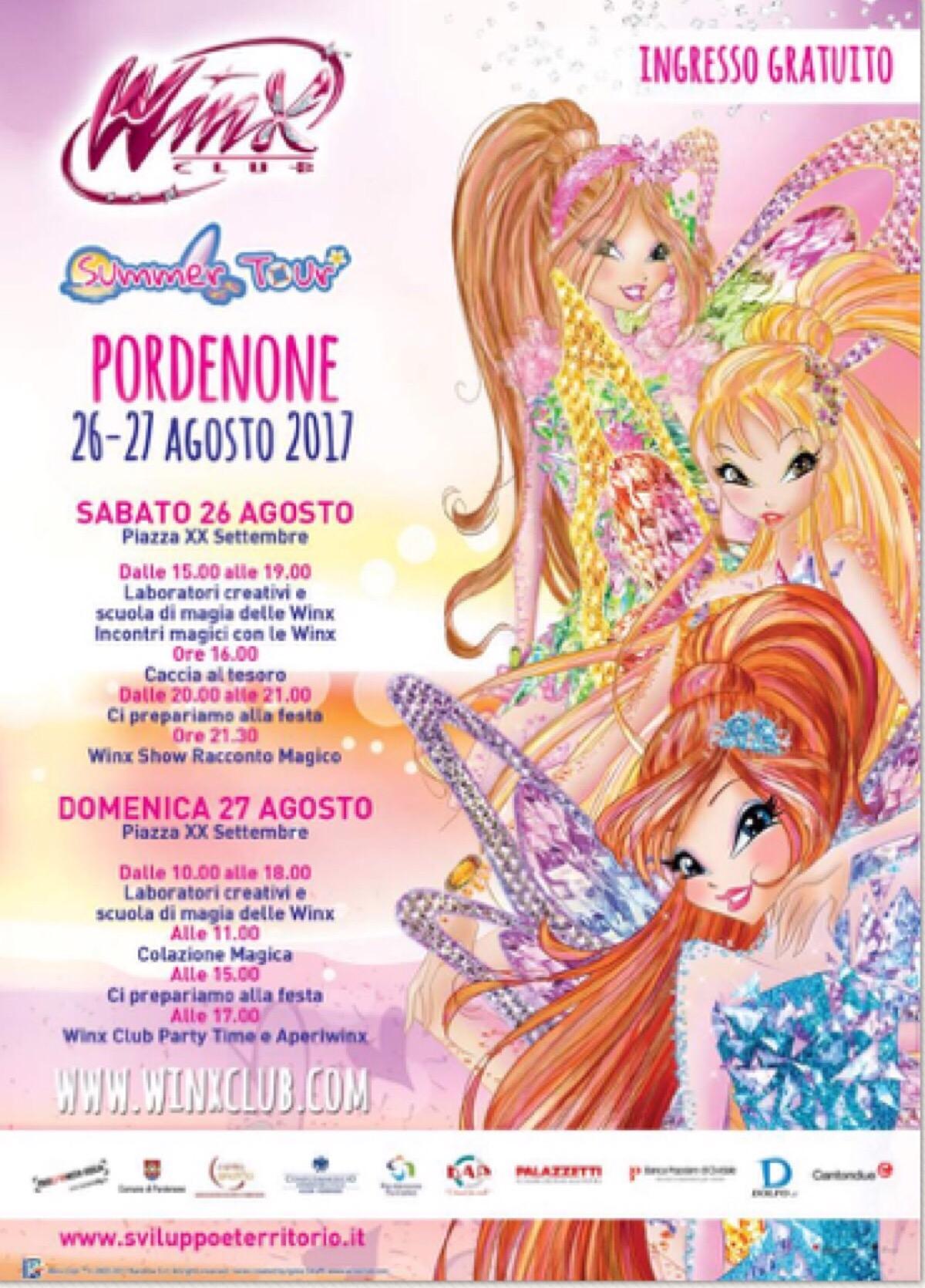 Winx summer tour Pordenone 26/27 agosto