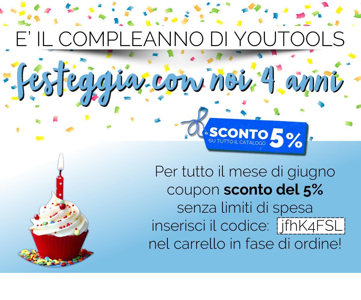 4 anni ferramenta online: festeggia con il coupon di sconto