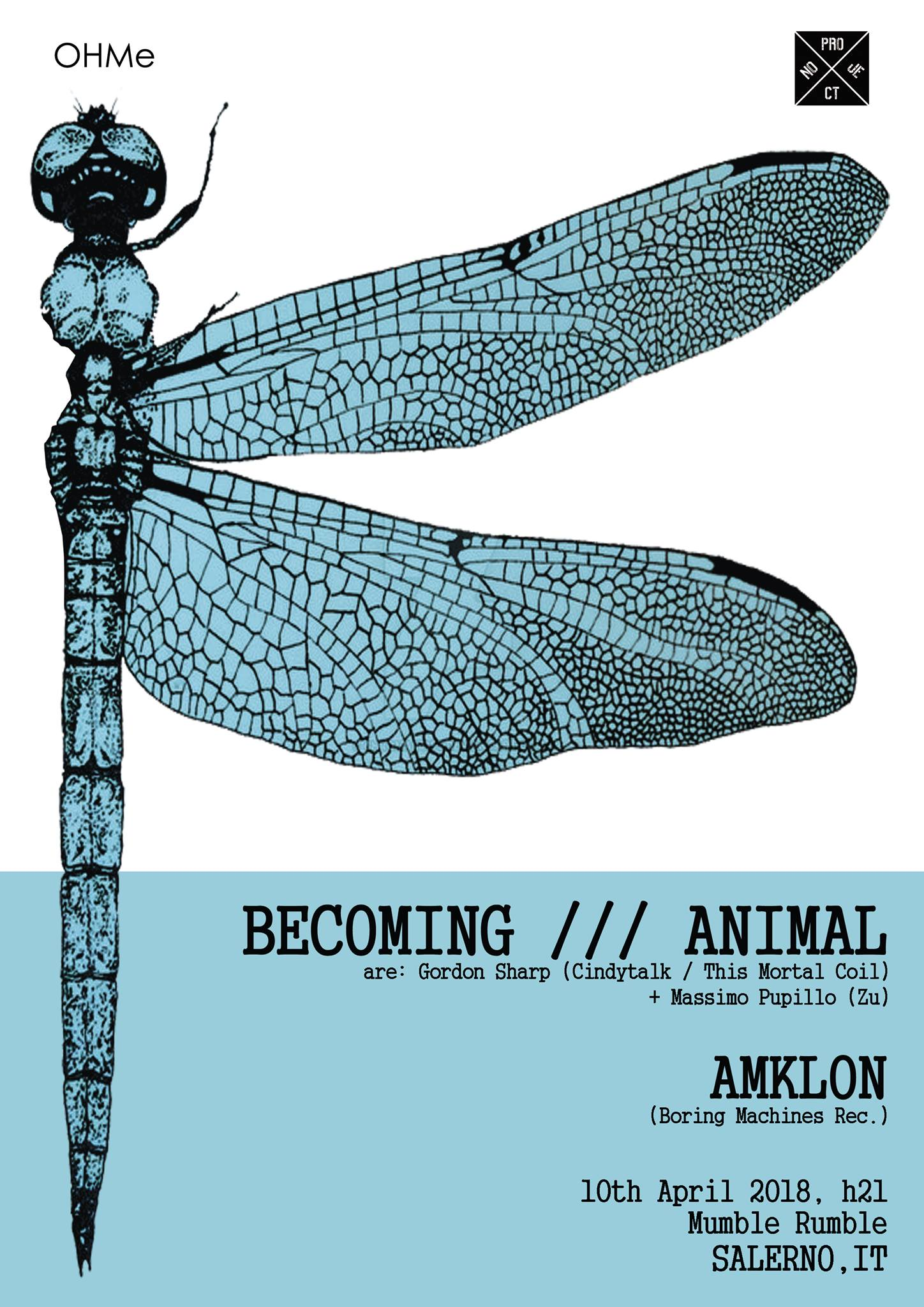 BECOMING///ANIMAL (Gordon Sharp from This Mortal Coil / Cindytalk and Massimo Pupillo from Zu) live al Mumble Rumble di Salerno