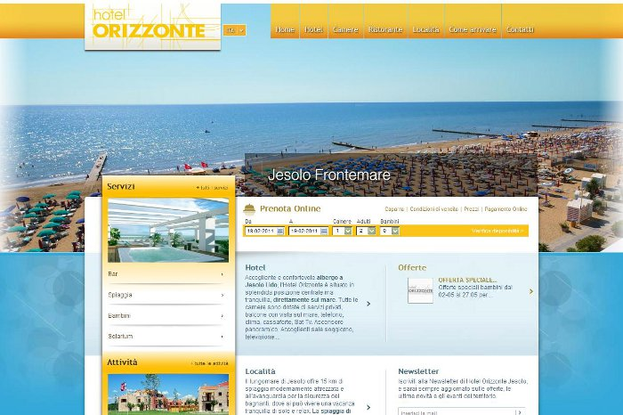 La nuova veste dell'Hotel Orizzonte di Jesolo rivista da MM ONE Group