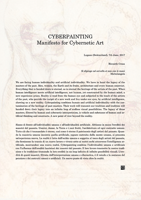 Riccardo Crosa pubblica Cyberpainting - Manifesto for Cybernetic Art