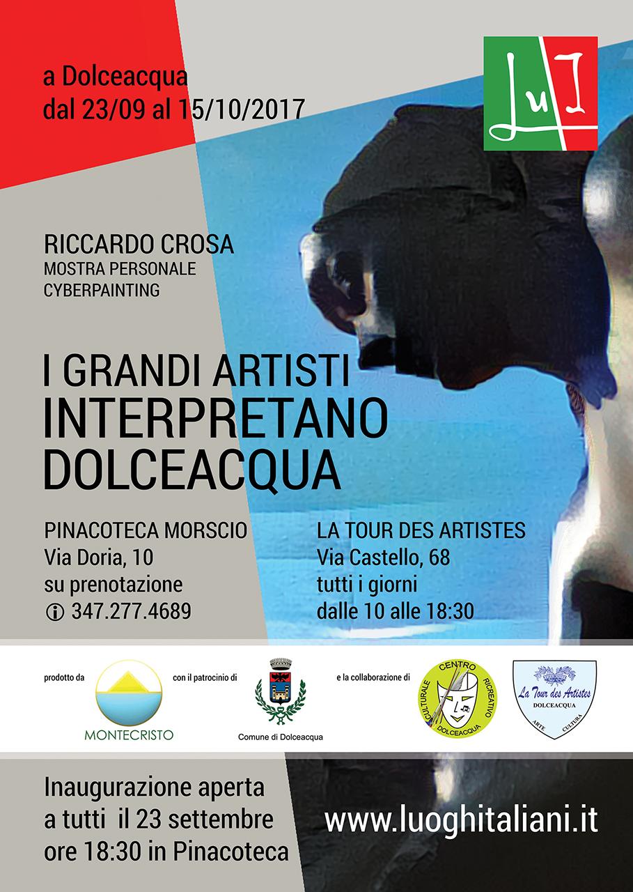 I grandi artisti interpretano Dolceacqua - mostra Cyberpainting