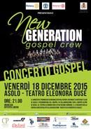 New Generation Gospel Crew in concerto ad Asolo il 18 dicembre