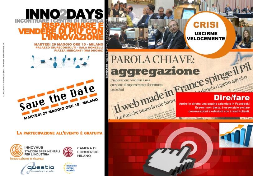Inno2days Milano: l'innovazione con successo in un'ottica anticrisi