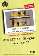 I canadesi Clay and Friends dal vivo a Vallo della Lucania (SA). In apertura Dutty Beagle